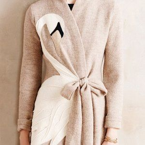 *rare* Anthropologie Swan Sweater coat
